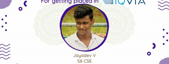 Jayadev V. Placed at IQVIA