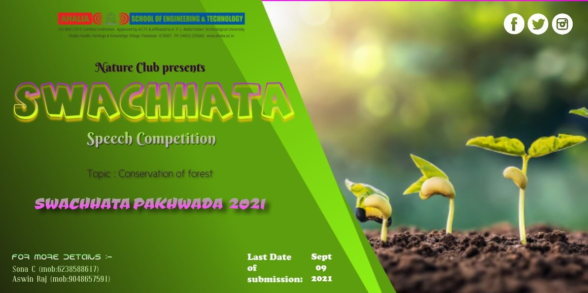 Speech Competition on Conservation of Forest