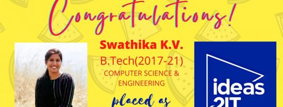 Swathika K. V. Placed at ideas2IT